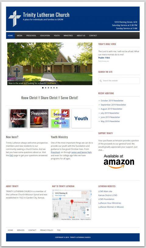 Trinity Lutheran Church homepage